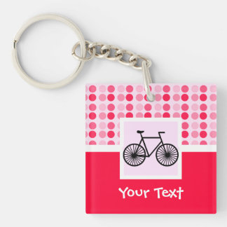 Cute Bicycle Double-Sided Square Acrylic Keychain