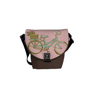 Cute Bicycle with Tulip Basket Commuter Bags