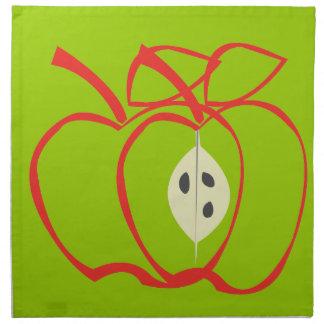 Cute Big Apple Pattern Designs Napkin
