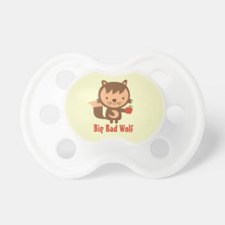 Cute Big Bad Wolf with Apple for Kids Pacifiers