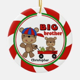 Cute Big Brother & Lil Bro Christmas Ornament