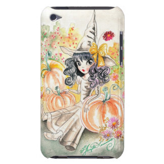 Cute Big Eye Halloween Witch in Pumpkin Patch Barely There iPod Cover
