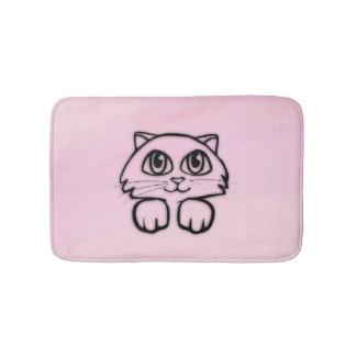 Cute Big Eyed Cat for Girls Bath Bath Mat