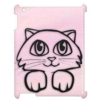 Cute  Big Eyed Cat Peeking Pink Cover For The iPad 2 3 4