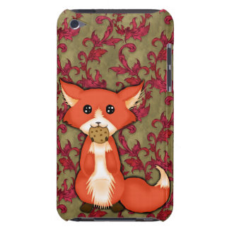Cute Big Eyed Fox Eating A Cookie iPod Case-Mate Case