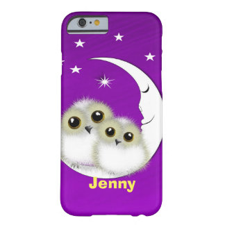 Cute Big Eyed Mother Baby Owls Personalized Barely There iPhone 6 Case
