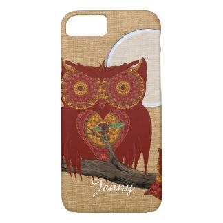 Cute Big Eyed Night Owl iPhone 8/7 Case