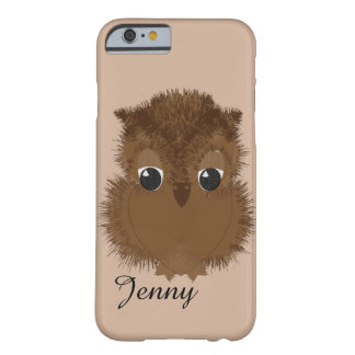 Cute Big Sad Eyed Baby Owl Barely There iPhone 6 Case