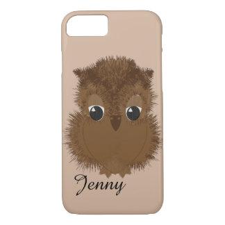 Cute Big Sad Eyed Baby Owl iPhone 8/7 Case