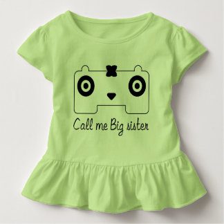 Cute Big sister girl Toddler Ruffle Tee HQH