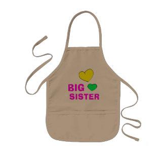 Cute Big Sister Kids Apron