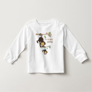 Cute Big Sister Monkey with Lil' Baby Brother Toddler T-Shirt
