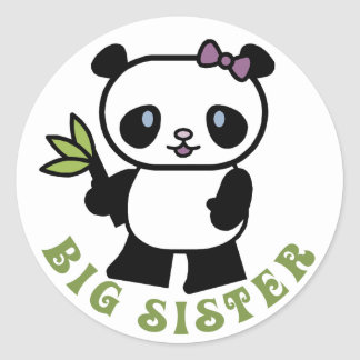 Cute Big Sister Round Stickers