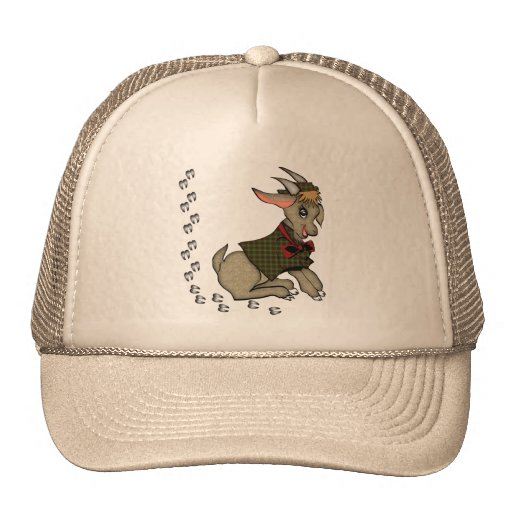 Cute Billy Goat with Bowtie Mesh Hats