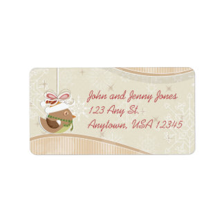 Cute Bird and Snowflakes Address Labels
