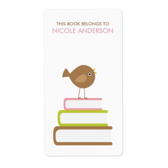 Cute Bird Bookplates Labels