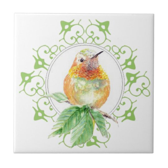Cute Bird, Hummingbird, Nature, Garden Wildlife, Small Square Tile