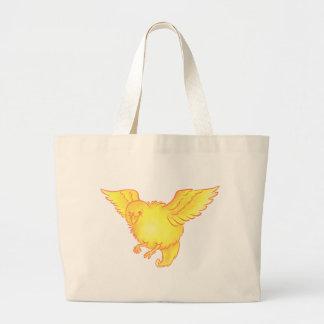 Cute Bird Large Tote Bag
