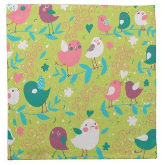 Cute Bird Pattern One Cloth Napkins