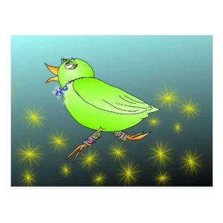Cute bird postcard