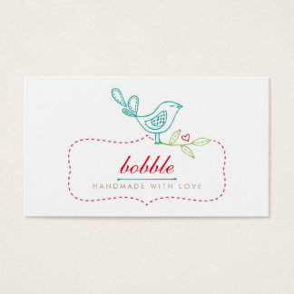 Cute Bird Sewing Handmade Business Card