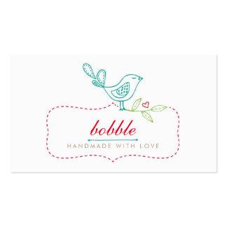 Cute Bird Sewing Handmade Pack Of Standard Business Cards