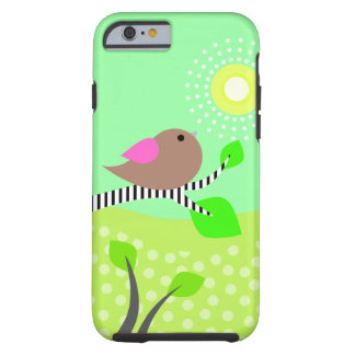 Cute Bird & Sun Tough iPhone 6 Case