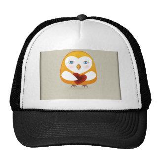 Cute  bird with heart cap