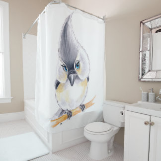 Cute Birdie Shower Curtain