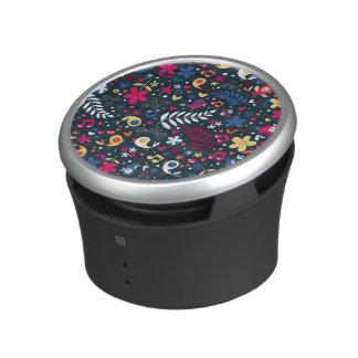 cute birds and flowers pattern bluetooth speaker