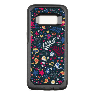 cute birds and flowers pattern OtterBox commuter samsung galaxy s8 case