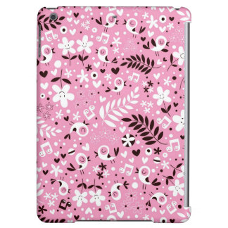cute birds and flowers pink pattern