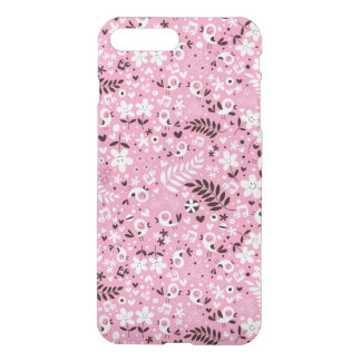 cute birds and flowers pink pattern iPhone 8 plus/7 plus case