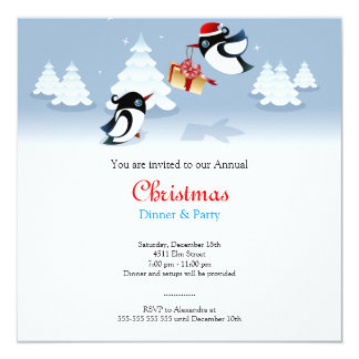 Cute Birds Christmas Gift Card