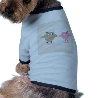 Cute birds couple in love dog shirt
