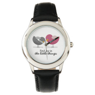 Cute Birds Little Things Love Joy Happiness Chic Watch