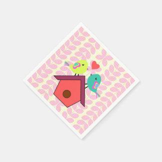 Cute birds- new home disposable serviettes