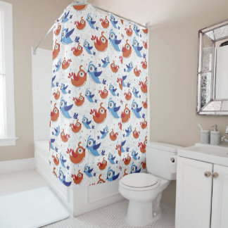 Cute Birds Shower Curtain