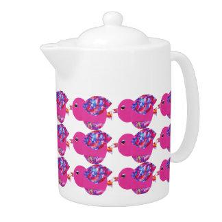 Cute birds teapot