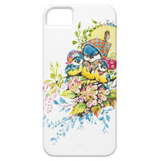 Cute Birds Vintage Illustration Case For The iPhone 5