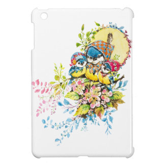Cute Birds Vintage Illustration Case For The iPad Mini