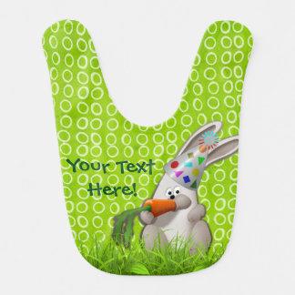Cute Birthday Bunny Munching on a Carrot Bib