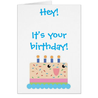 Cute Birthday Cake Birthday Card