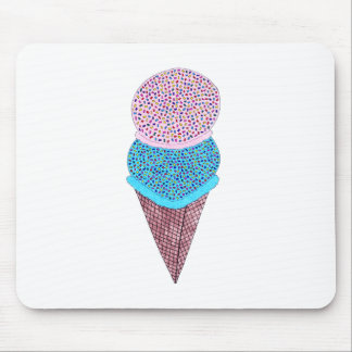 Cute Birthday Double Ice Cream In Cone Mouse Mat