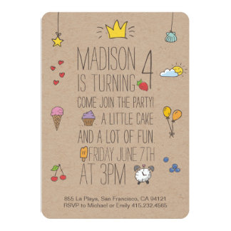 Cute Birthday Invitation for little girls and boys