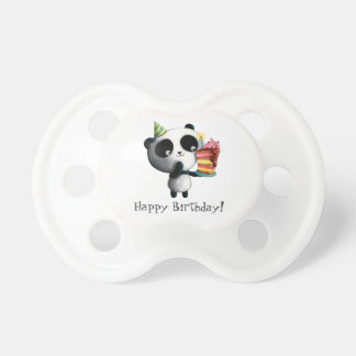 Cute Birthday Panda with Cake Dummy