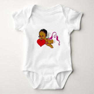 Cute Black African Cupid Baby Bodysuit