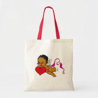 Cute Black African Cupid Tote Bag