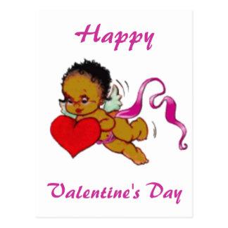 Cute Black African Cupid Postcard