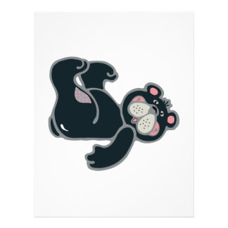 cute black and pink bear full color flyer